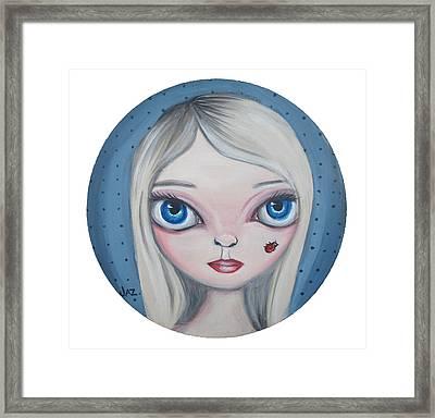 Cecilia And The Ladybug Framed Print