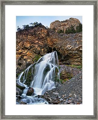 Cedar Creek Falls 2 Framed Print by Leland D Howard