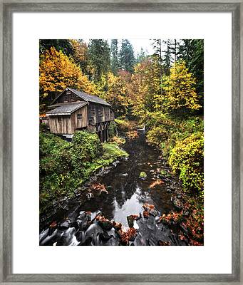 Cedar Creek Grist Mill Color Burst Framed Print