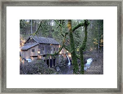Framed Print featuring the photograph Cedar Creek Grist Mill by Larry Keahey