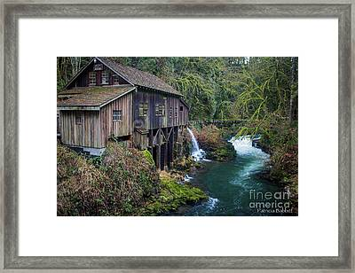 Cedar Grist Mill Framed Print