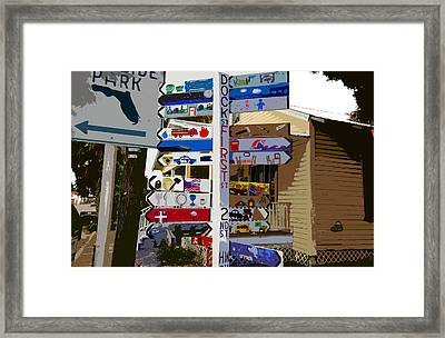 Cedar Key Directional Framed Print by David Lee Thompson