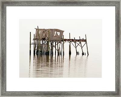 Cedar Key Structure Framed Print by Patrick M Lynch