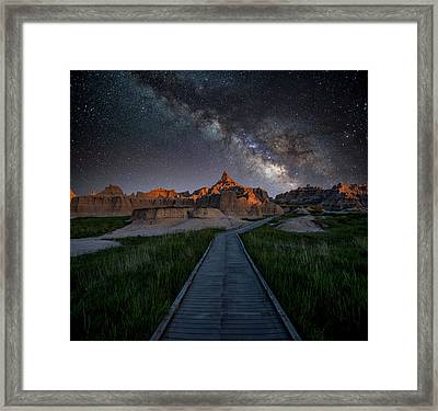 Framed Print featuring the photograph Cedar Pass Milky Way by Darren White