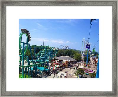 Cedar Point Amusement Park Framed Print