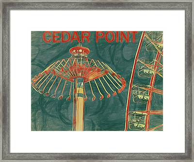 Cedar Point Art Poster Framed Print