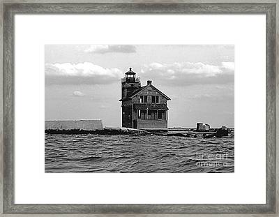 Cedar Point Light Chesapeake Bay Maryland Vintage 1960 Framed Print by Wayne Higgs