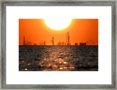 Cedar Point Skyline 2 Framed Print