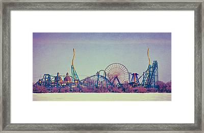 Cedar Point Skyline Framed Print