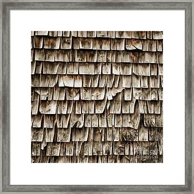 Cedar Shingles Pattern Framed Print by Edward Fielding