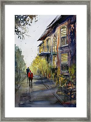 Cedarburg Shadows Framed Print