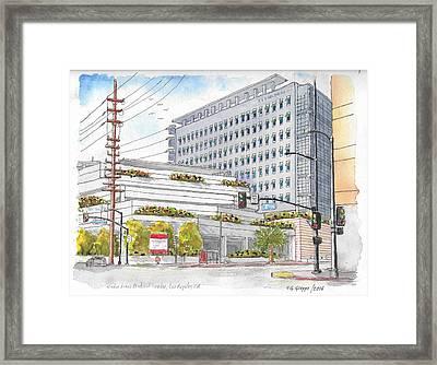 Cedars-sinai Medical Center, 3rd And San Vicente, West Hollywood, Ca Framed Print by Carlos G Groppa