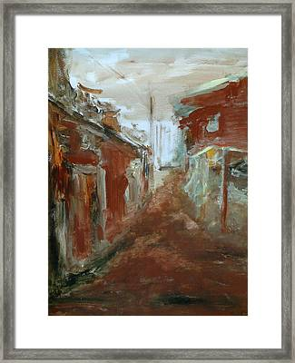 Ceder Town Framed Print by Rome Matikonyte