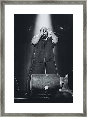 Ceelo Green Playing Live Framed Print by Marco Oliveira