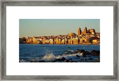 Cefalu - Sicily Framed Print by Sorin Ghencea