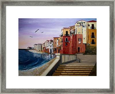 Cefalu Framed Print by Anthony Meton