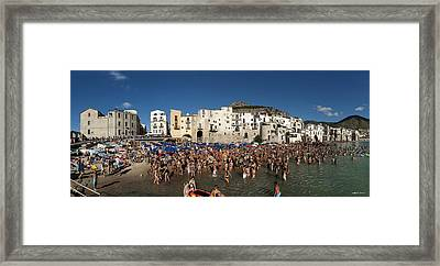 Cefalu Framed Print by Robert Lacy