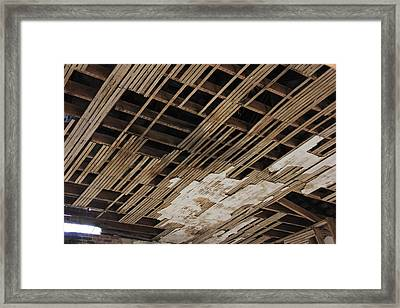Ceiling Laths Framed Print by Jeff Roney
