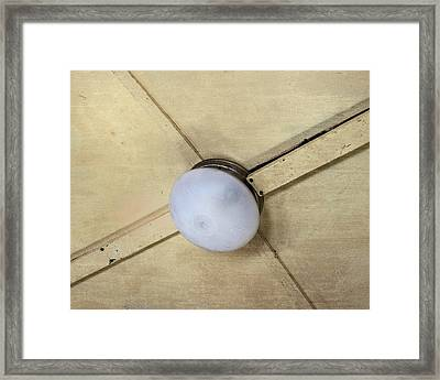 Ceiling Light On Antique Train Framed Print