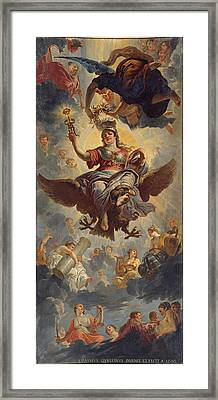 Ceiling Of The Council Chamber Framed Print