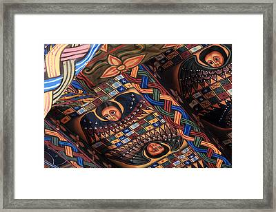 Ceiling Paintings In Abba Pantaleon  Framed Print