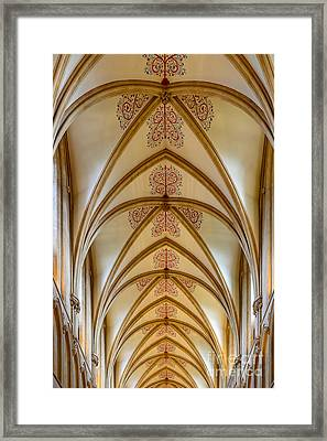Ceiling, Wells Cathedral. Framed Print by Colin Rayner