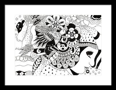 Organic Abstraction Drawings Framed Prints