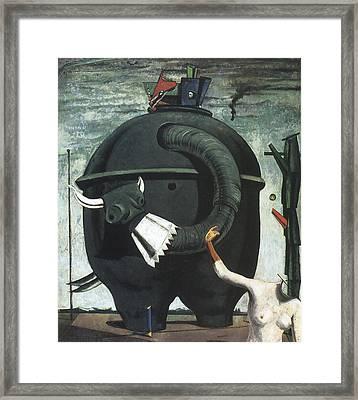 Celebes Framed Print by Max Ernst