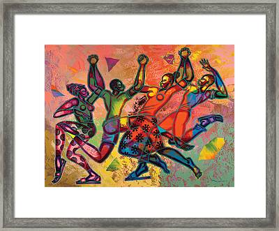 Celebrate Freedom Framed Print by Larry Poncho Brown