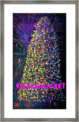 Celebrate In Lights Framed Print