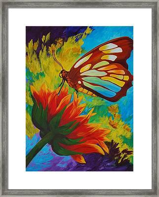 Celebrate Framed Print by Karen Dukes