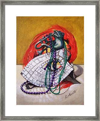 Framed Print featuring the painting Celebrate by Laura Aceto