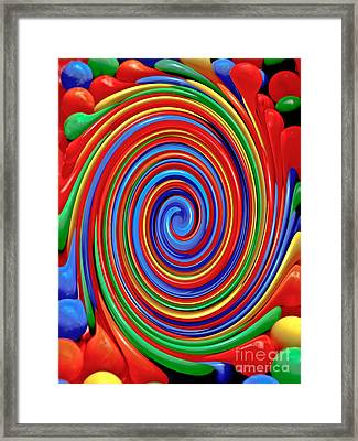 Celebrate Life And Have A Swirl Framed Print by Carol F Austin