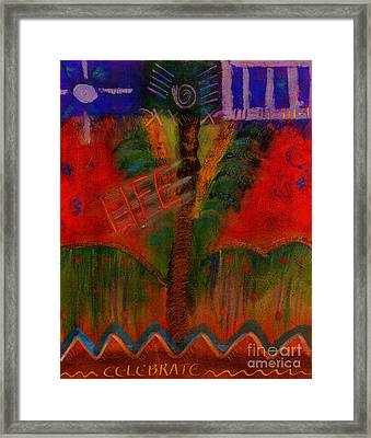 Framed Print featuring the painting Celebrate Life by Angela L Walker
