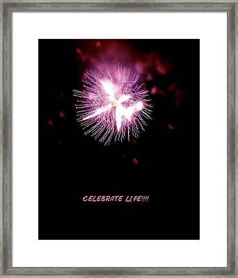 Celebrate Life Framed Print