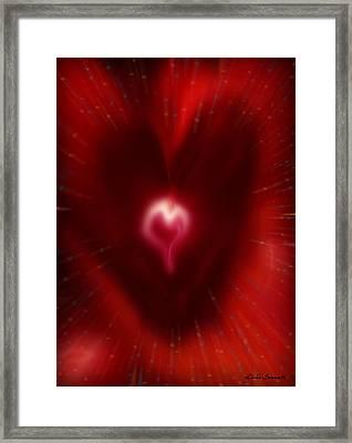 Celebrate Love Framed Print by Linda Sannuti
