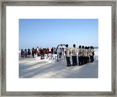 Celebrate Marriage In Kenya Framed Print