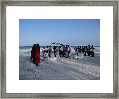 Celebrate Marriage On The Beach Framed Print