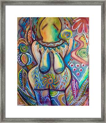 Celebrate The Feminine Power  Framed Print