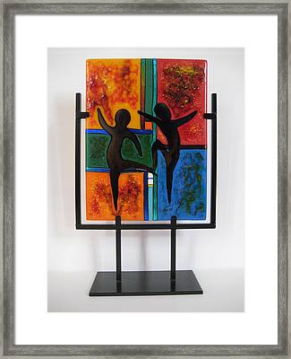 Celebrate The Possibilities Framed Print by Mark Lubich