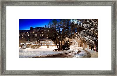 Celebrate The Winter Night Framed Print by Karen Wiles