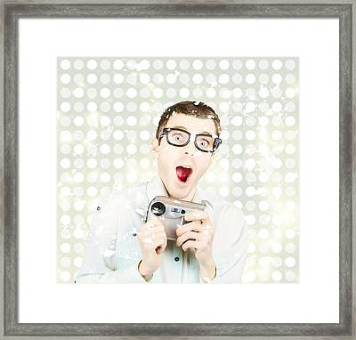 Celebrating Memories With Video Technology Framed Print by Jorgo Photography - Wall Art Gallery