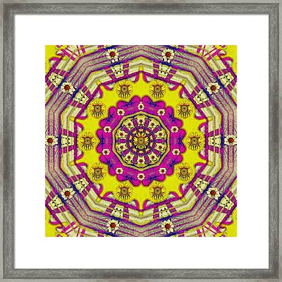 Celebrating Summer In Soul And Mind Mandala Style. Framed Print by Pepita Selles