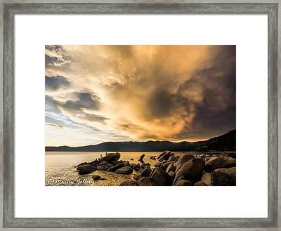 Celebrating Sunset Framed Print