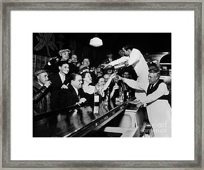 Celebrating The End Of Prohibition Framed Print by American School