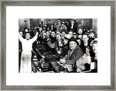 Celebrating The End Of Prohibition Framed Print