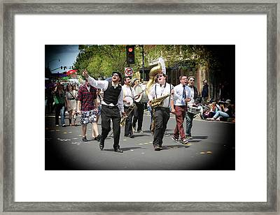 Celebrating The Holiday With Song Framed Print by Michael Riley