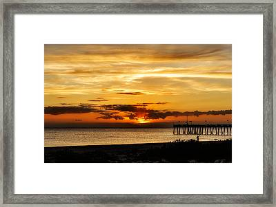 Celebrating The Setting Sun Framed Print