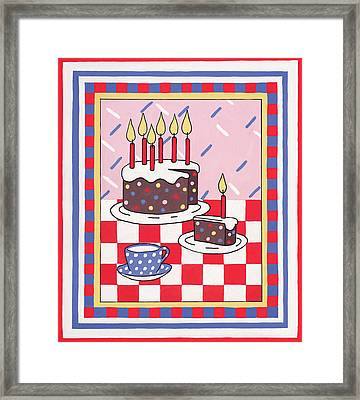Celebration Cake Framed Print by Lavinia Hamer