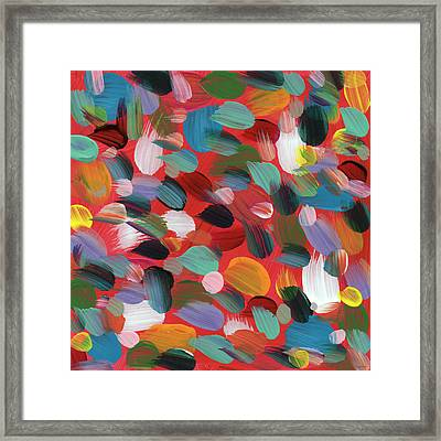 Celebration Day- Art By Linda Woods Framed Print by Linda Woods